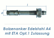 M10 x 102mm Bolzenanker Edelstahl A4 - ETA Opt. 1 (1 Stk.)
