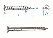 5,3 x 60mm Terrassenschrauben A2 TX m. Cut-Spitze &...