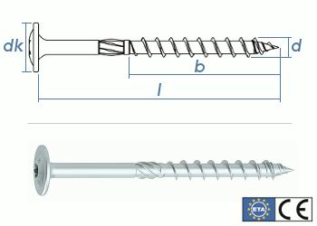 8 x 360mm Konstruktionsschrauben Tellerkopf TX verzinkt (1 Stk.)