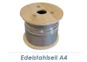 3mm 7x7-Drahtseil Edelstahl A4 (250lfm Spule)