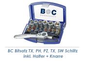 TX, PH, PZ, Schlitz, SW Bitsatz inkl. Halter + Mini-Knarre 24-teilig Bohrcraft (1 Stk.)