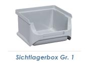102 x 100 x 60mm Stapelsichtbox Gr.1 grau (1 Stk.)