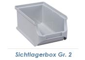 102 x 160 x 75mm Stapelsichtbox Gr.2 grau (1 Stk.)