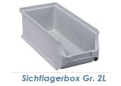 102 x 215 x 75mm Stapelsichtbox Gr.2L grau (1 Stk.)