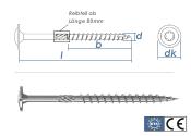 6 x 200mm Holzbauschrauben Tellerkopf TX verzinkt (1 Stk.)