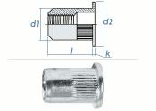 M4 x 5,9 x 12mm Blindnietmutter Flachkopf AlMg5 (10 Stk.)
