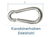 40 x 4mm Karabinerhaken Edelstahl A4 (1 Stk.)