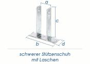 71mm U- Stützenschuh mit Lasche aufdübelbar (1 Stk.)