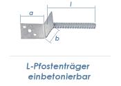 80mm L-Pfostenträger einbetonierbar (1 Stk.)