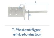 70mm T-Pfostenträger einbetonierbar (1 Stk.)