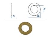 13mm Unterlegscheiben DIN125 Messing (10 Stk.)