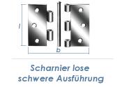 89 x 89mm schweres Scharnier lose verzinkt  (1 Stk.)