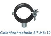 """12-14mm (1/4"""") Gelenkrohrschellen M8/M10  (1 Stk.)"""