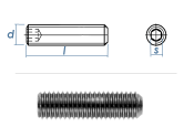 M4 x 8mm Gewindestift Kegelkuppe DIN913 Edelstahl A2 (100...