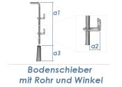 400 x 65 x 150mm Bodenschieber mit Rohr & Winkel...