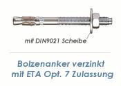 M12 x 200mm Bolzenanker verzinkt - ETA Opt. 7  (1 Stk.)