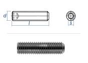 M4 x 5mm Gewindestift Kegelkuppe DIN913 Edelstahl A2 (100...