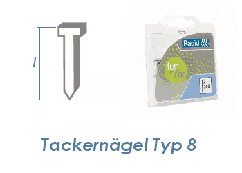 25mm Tackerdrahtstift Typ 8  (1 Pkg. zu 1000 Stk.)