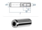 8 x 24mm Zylinderstift mit Innengewinde DIN 7979 - Tol....