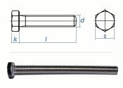 M5 x 14mm Sechskantschrauben DIN933 Vollgewinde Edelstahl...