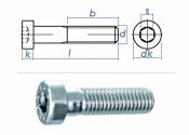 M8 x 16mm Zylinderschraube DIN7984 Stahl verzinkt FKL 8.8...