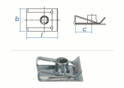 M6 Schnappmutter Stahl verzinkt (1 Stk.)