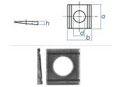 17,5mm Keilscheibe DIN434 Edelstahl A2 (1 Stk.)
