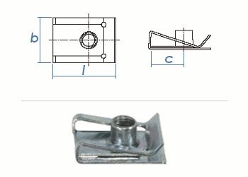 M5 Schnappmutter Stahl verzinkt - lange Ausführung (1 Stk.)