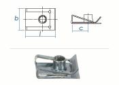 M8 Schnappmutter Stahl verzinkt (1 Stk.)