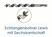 6 x 235mm Lewis Schlangenbohrer (1 Stk.)
