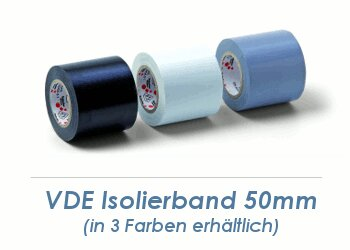 50mm VDE Isolierband weiss - 10m Rolle (1 Stk.)