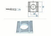 13,5mm Keilscheibe DIN434 Stahl verzinkt (1 Stk.)