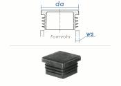 60 x 60mm / WS:1,5-4mm Lamellenstopfen quadratisch PE...