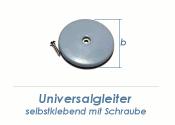 22mm Universalgleiter selbstklebend / mit Schraube (1 Stk.)