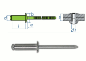 4,8 x 30mm Blindniete Edelstahl A2 DIN7337 (10 Stk.)