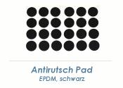 20mm Antirutsch Pad schwarz selbstklebend  (1 Karte zu 50 Stk.)