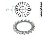 6,4mm Fächerscheiben Form AZ DIN6798 Stahl verzinkt...