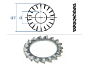 10,5mm Fächerscheiben Form AZ  DIN6798 Stahl...