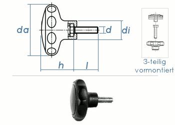 M10 x 40mm Sterngriff 63mm PA ähnl. DIN 6336  (1 Stk.)