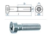 M10 x 90mm Zylinderschraube DIN6912 Stahl verzinkt FKL...