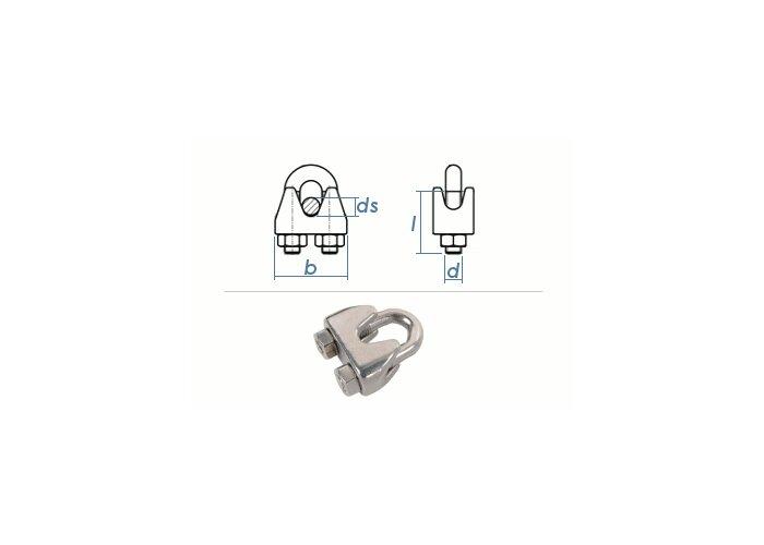4mm Drahtseilklemmen Edelstahl A4, 0,86 €