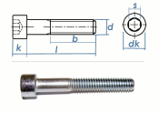 M3 x 40mm Zylinderschrauben DIN912 Stahl verzinkt FKL 8.8...