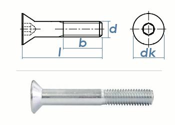 M16 x 40mm Senkschrauben DIN7991 Stahl verzinkt FKL 8.8 (1 Stk.)