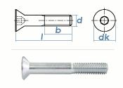 M16 x 40mm Senkschrauben DIN7991 Stahl verzinkt FKL 8.8...