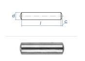 6 x 40mm Zylinderstift  Edelstahl gem. DIN7 / ISO2338 (10...