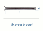 8 x 130mm Express Nägel verzinkt (10 Stk.)