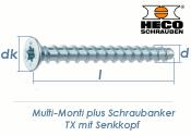 7,5 x 100mm MMS-plus Schraubanker TX mit Senkkopf (1 Stk.)