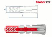 5 x 25mm Fischer DUOPOWER Dübel (10 Stk.)