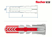 14 x 70mm Fischer DUOPOWER Dübel (1 Stk.)