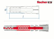6 x 50mm Fischer DUOPOWER Dübel (10 Stk.)